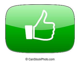 like green icon thumb up sign