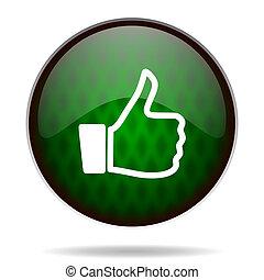 like green internet icon