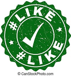 #Like Grunge Stamp with Tick