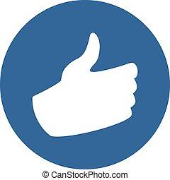 like hand flat symbol