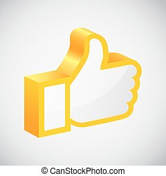 Like hand icon. Vector Illustration EPS 10