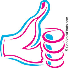 Like Hand Logo - Vector Illustration Of Like Hand