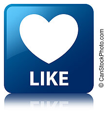 Like (heart icon) blue square button