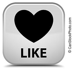 Like (heart icon) special white square button