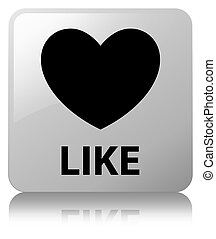 Like (heart icon) white square button