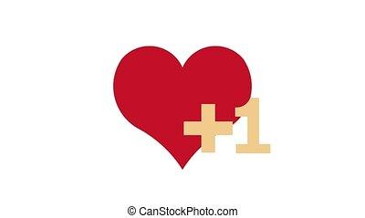 Like Heart Notification, Social Network Animation - Heart, ...