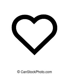 Like heart outline icon isolated on white background
