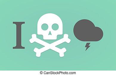 "like"", hieróglifo, tempestuoso, faça, ""i, nuvem"