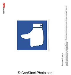 like icon - Blue photo Frame