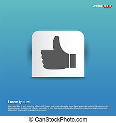 like icon  - Blue Sticker button