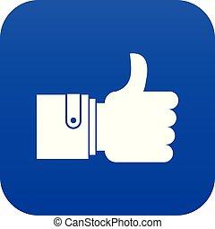 Like icon digital blue