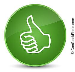 Like icon elegant soft green round button