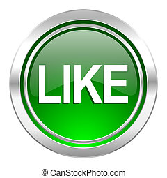 like icon, green button