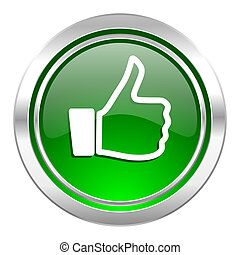 like icon, green button, thumb up sign