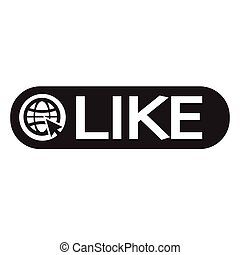 Like Icon Illustration design