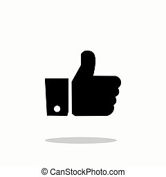 Like Icon in trendy flat style isolated on background.