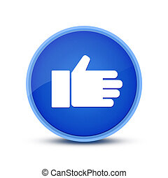 Like icon isolated on special blue round button abstract