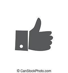 LIKE icon on white background