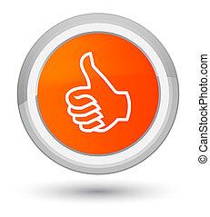 Like icon prime orange round button