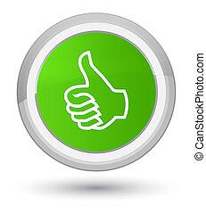 Like icon prime soft green round button