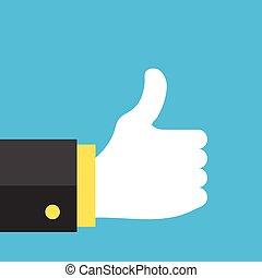 Like icon. Social network like