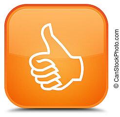 Like icon special orange square button