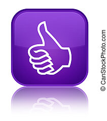 Like icon special purple square button