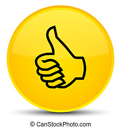 Like icon special yellow round button