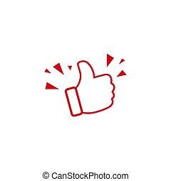 Like icon symbol simple design