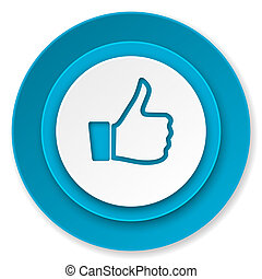 like icon, thumb up sign