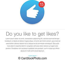 Like icon. Thumb up symbol