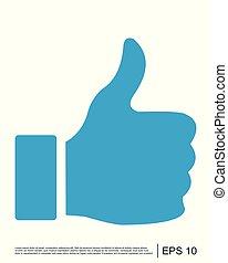 Like icon, Thumbs up icon, Social media icon