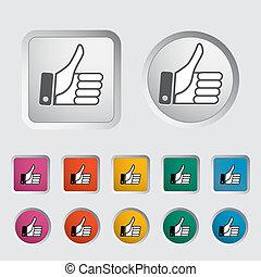 Like icon. Vector illustration EPS.