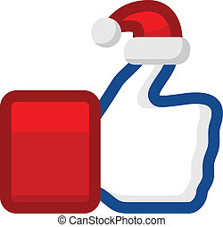 Like icon with Santa Claus hat