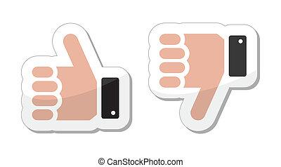 Like it Unlike buttons / labels