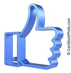Like. - Like Symbol on white background. 3d Render,...