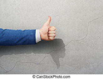 Like man hand shows unlike hand shadow. True lies.
