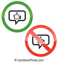 Like message permission signs