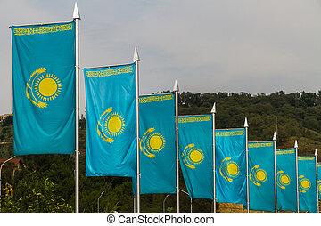Like of Kazakh flags, Almaty Kazakhstan