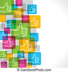 Like or thumbs up symbol background