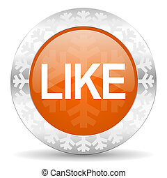like orange icon, christmas button