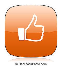 like orange square web design glossy icon