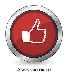 like red icon thumb up sign