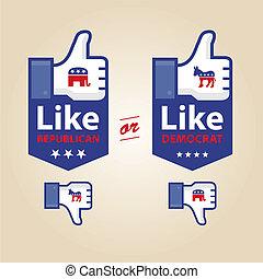like republican or democrat