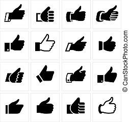 Like, set icons