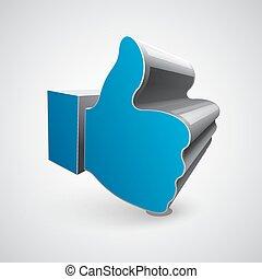 """like"", simbolo, sfondo bianco"