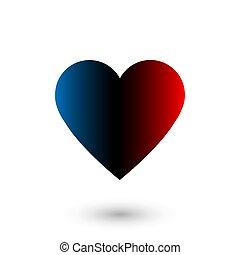 Like social network icon in heart shape on white