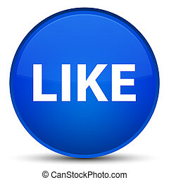 Like special blue round button