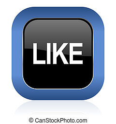 like square glossy icon