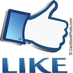Like symbol or thumb up button
